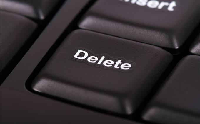black delete key