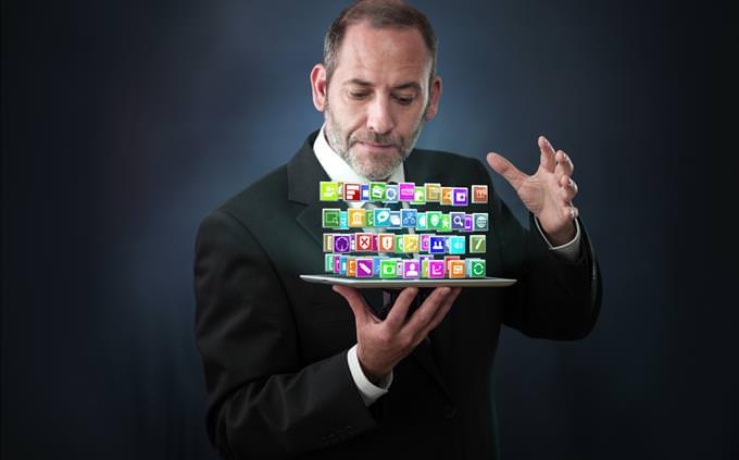 magician using tablet