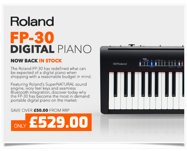 Roland FP-30 SuperNATURAL Digital Piano, Black.