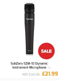 SubZero SZM-10 Dynamic Instrument Microphone.