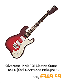 Silvertone 1449 PO1 Electric Guitar, RSFB (Carl DeArmond Pickups).