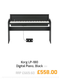 Korg LP-180 Digital Piano, Black.