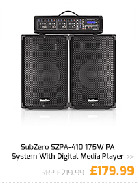SubZero SZPA-410 175W PA System With Digital Media Player.