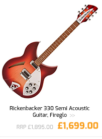 Rickenbacker 330 Semi Acoustic Guitar, Fireglo.