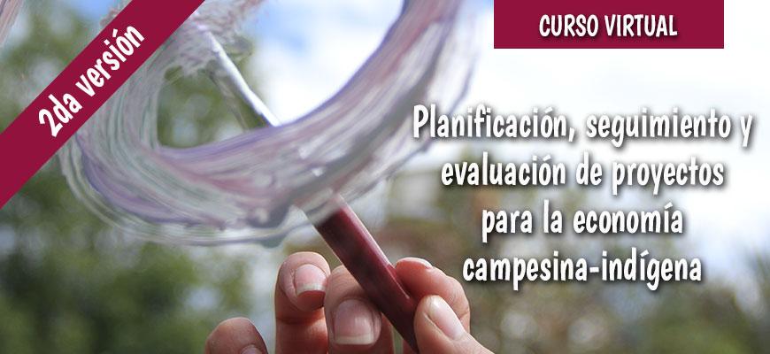 Planificación, seguimiento y evaluación de proyectos para la economía campesina-indígena. Segunda versión. GRUPO B
